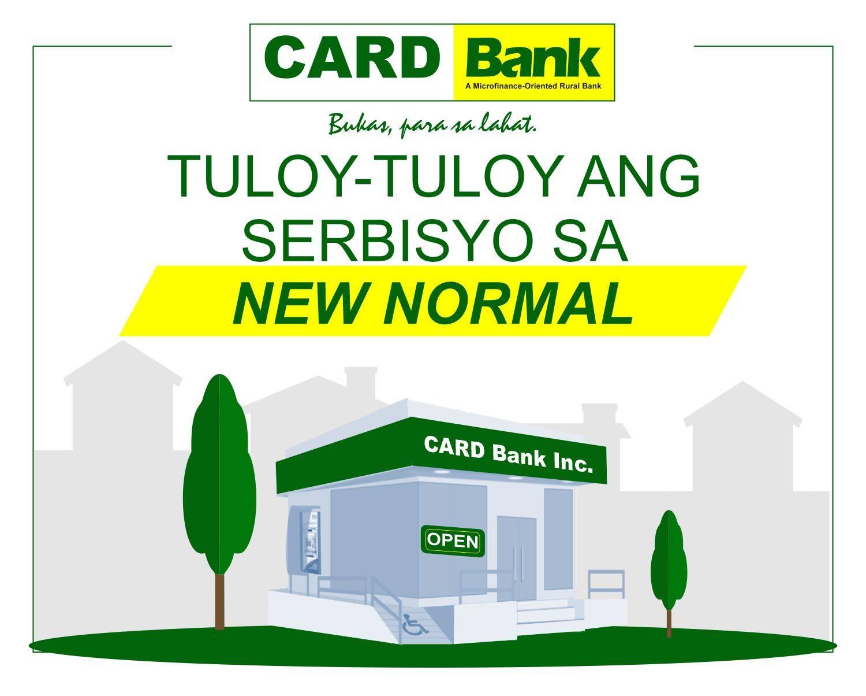 CARD Bank, Tuloy-tuloy ang Serbisyo sa New Normal
