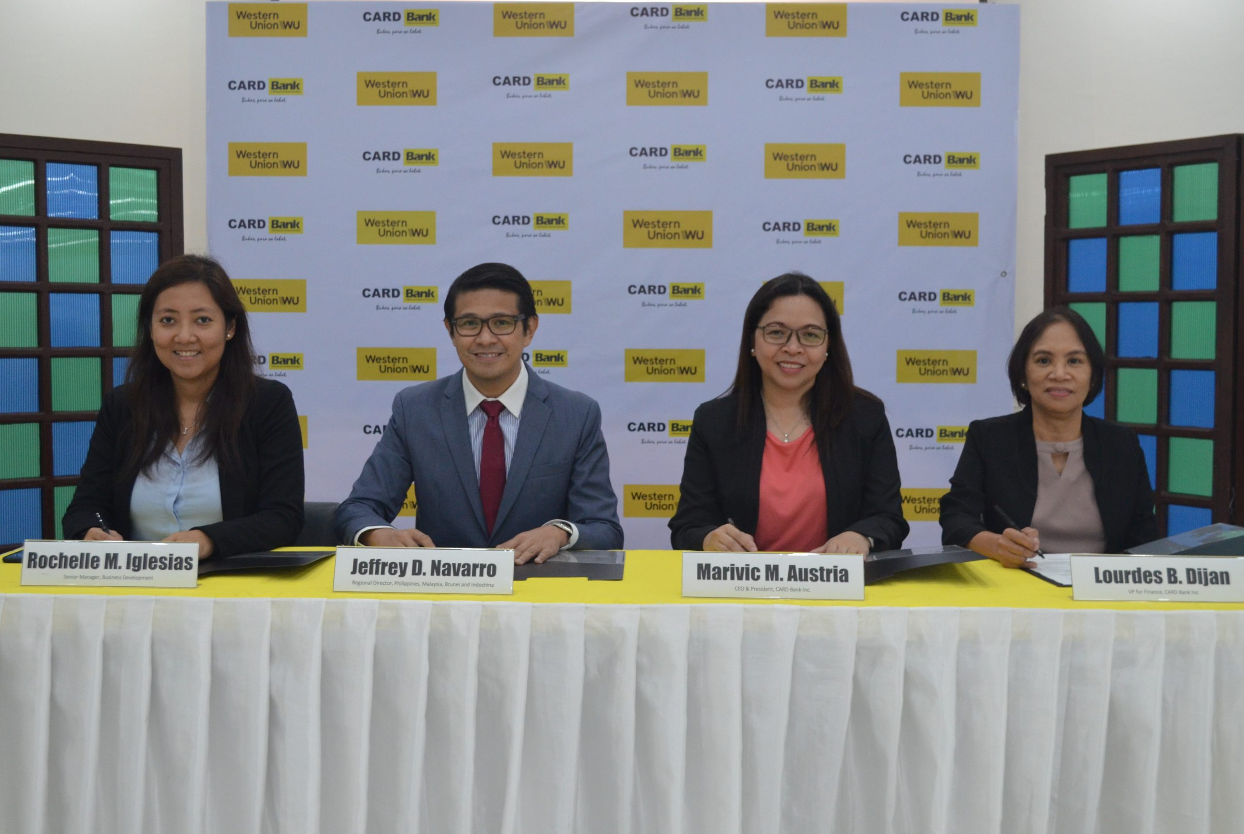 CARD Bank partners with Western Union to widen international-domestic remittance service.